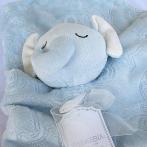 NWT Kyle & Deena Blue Elephant Lovey Soother Binky